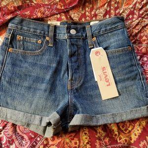 Wedgie fit denim shorts